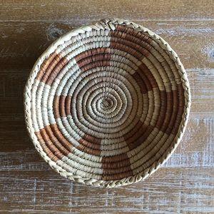 Vintage Mini Coil Basket Wall Decor Trinket Dish